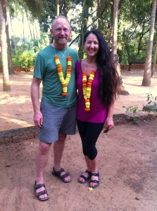 Goldie & James arriving to the Shri Kali Ashram in Goa, India!